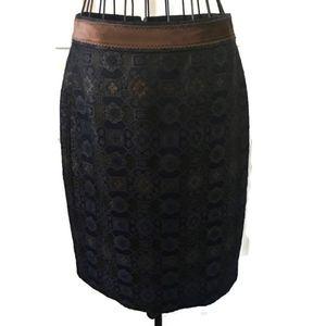Saks 5th Ave Signature Silk Wool Brocade Skirt